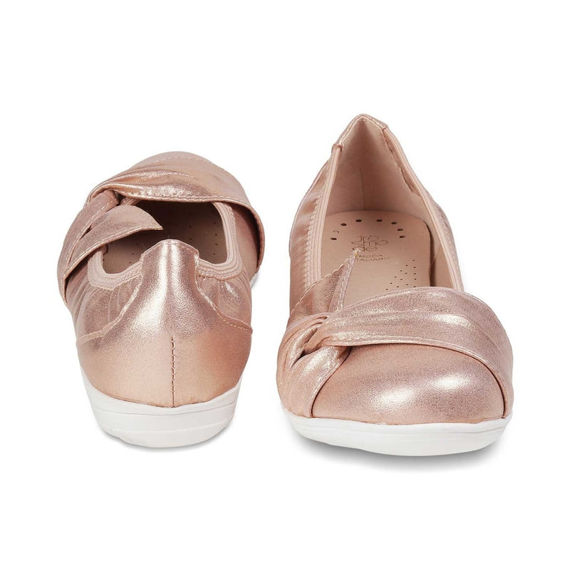 The Dublin Gold ballerinas for women