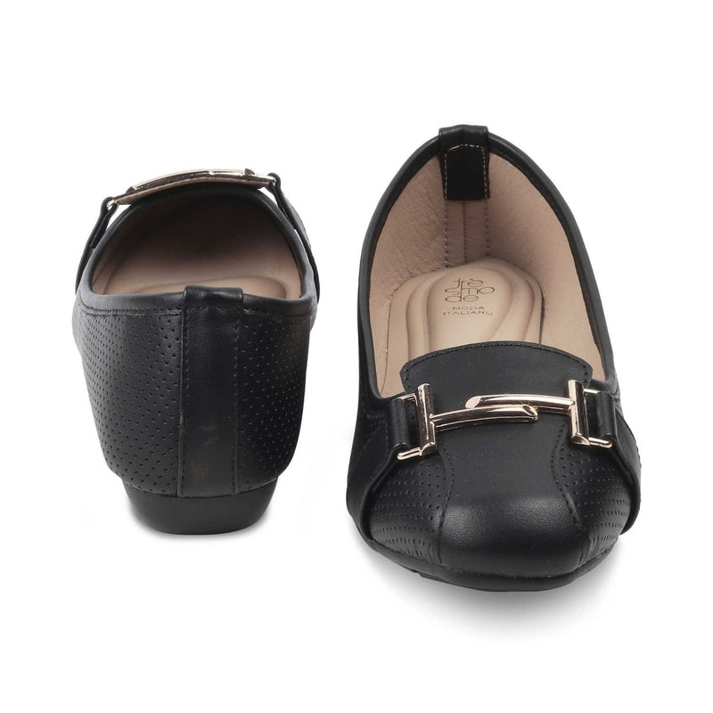 The Edgeware Black ballet flats