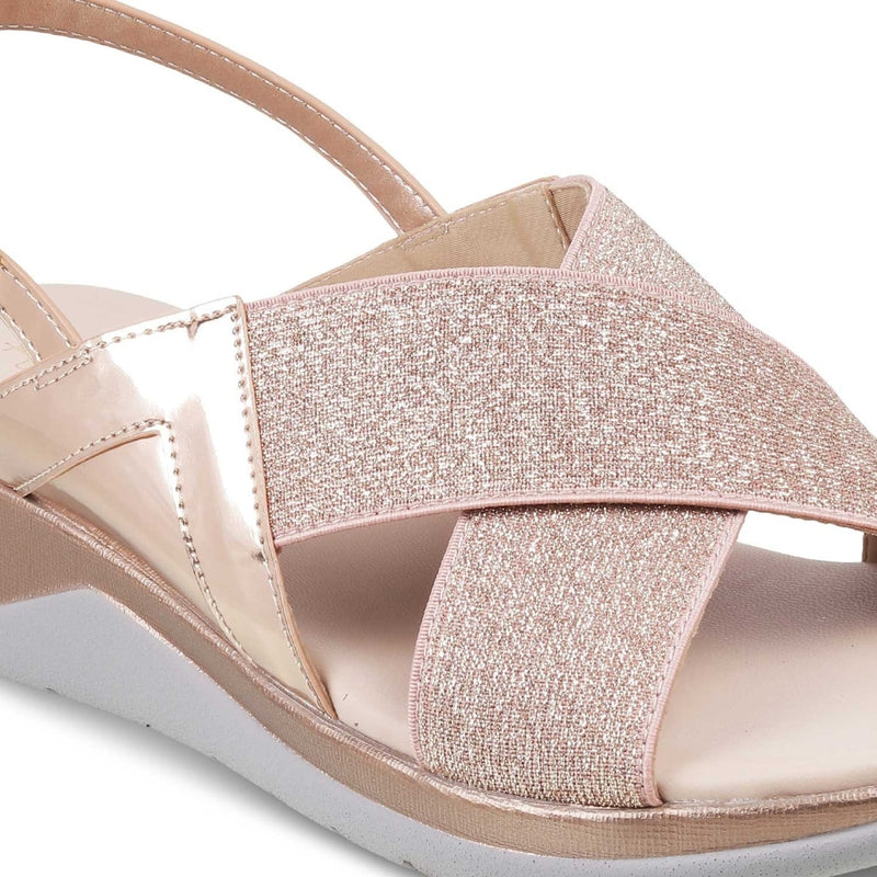 The Pardubice Rose Gold Sandals for Women