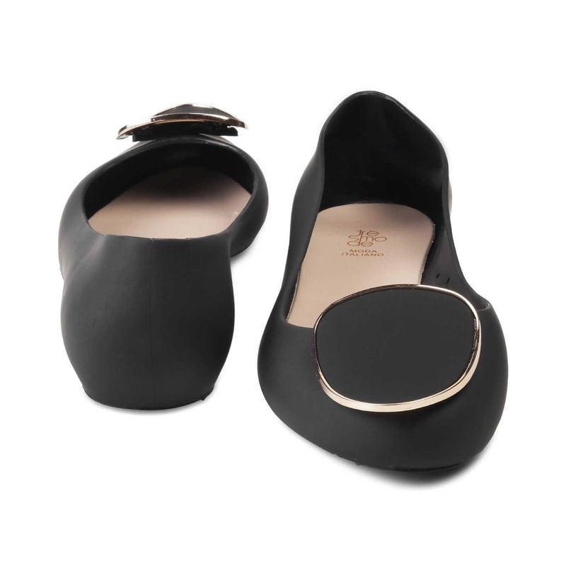 The Perez-1 Black jelly ballerinas for all seasons