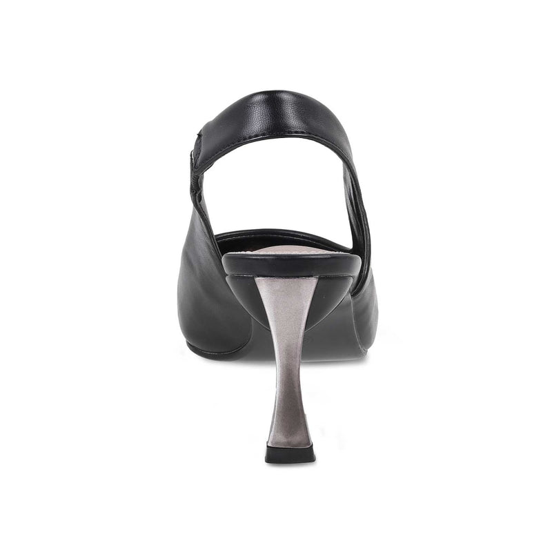 The Reggio Black Sling Back Pumps for Women