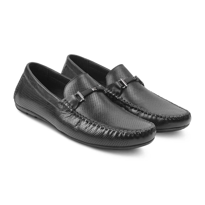 The Ropen Black Slither Loafers