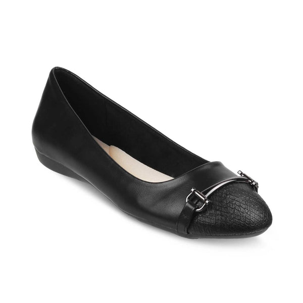 The Rora Black Ballet Flats