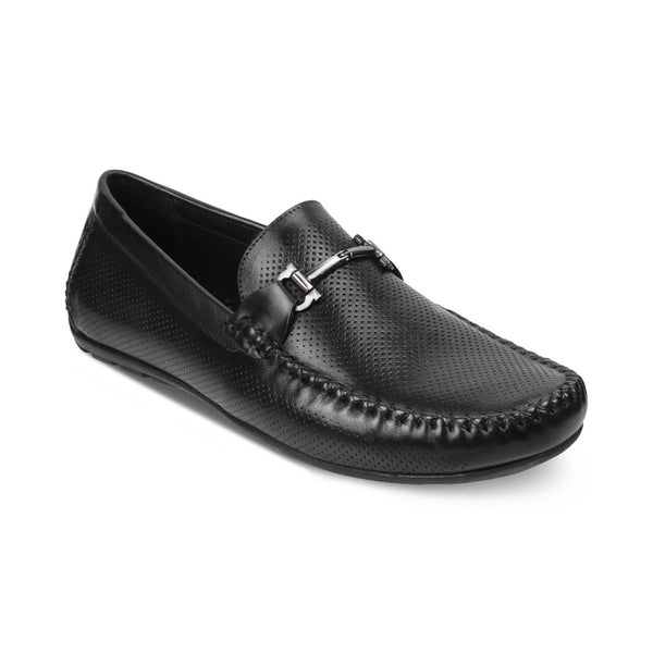The Rosteel Black Driving Loafers