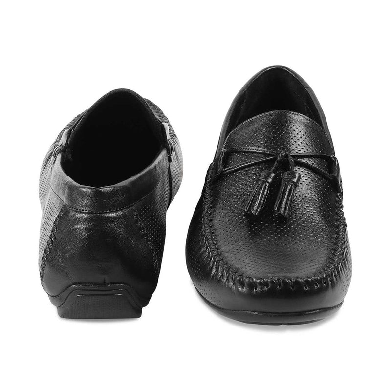 The Rotie Black Retro Loafers