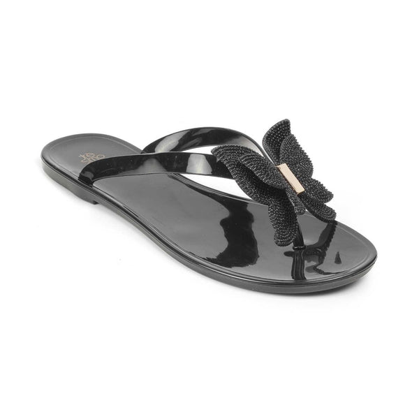 The Saint Black flip-flops