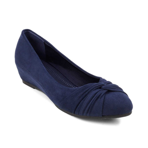 The Salvador Blue Wedge heel ballerinas