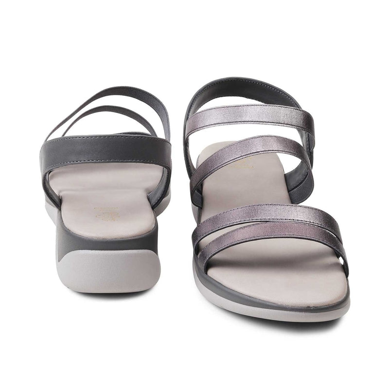 The Savannah-1 Pewter Matte Wedge Sandals