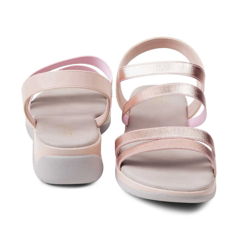 The Savannah-1 Rose Gold Matte Wedge Sandals