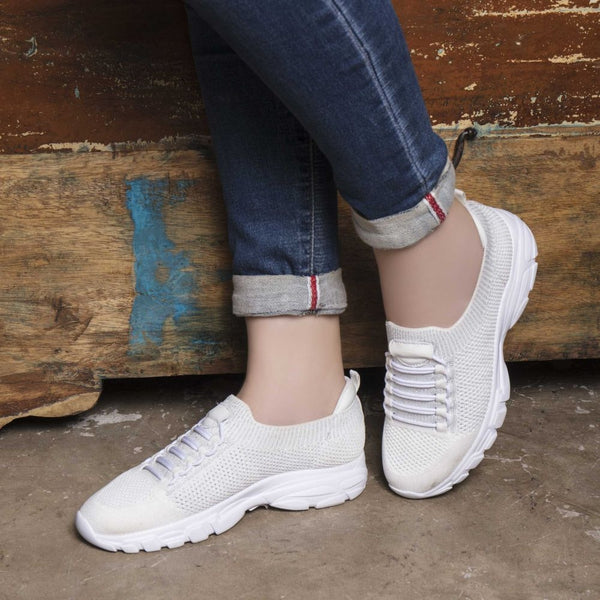 The Pilos White - White sneakers for women - Tresmode