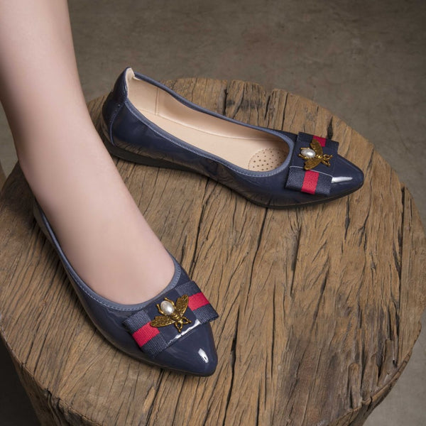 The Salti Blue - Blue ballet flats for women - Tresmode