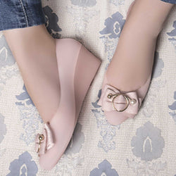 The Zooloo Pink Wedge heel ballerinas