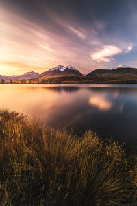 A Landscape image of a lake in New Zealand for wall art