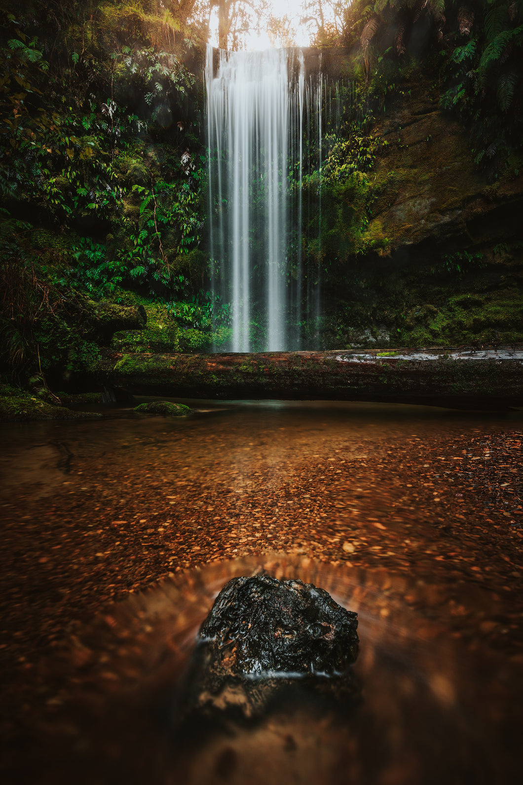 A Landscape image of a waterfall in New Zealand for wall art