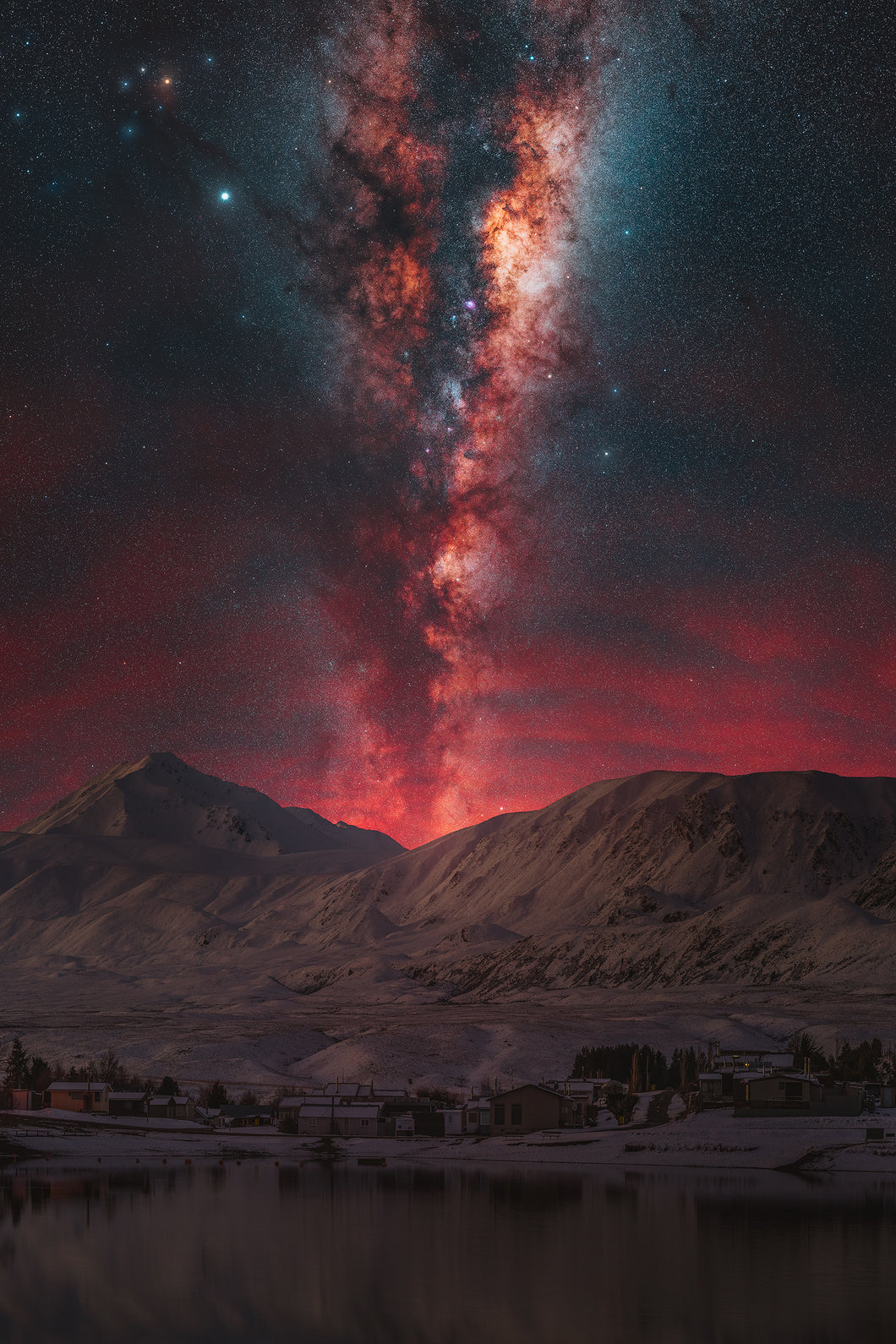 A Landscape image of the Milky Way in New Zealand for wall art