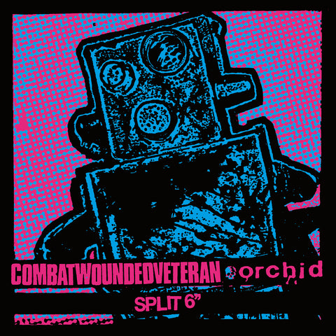 "COMBAT WOUNDED VETERAN / ORCHID ""Split"" 6"" LIMITED TO 100! PURPLE VINYL"