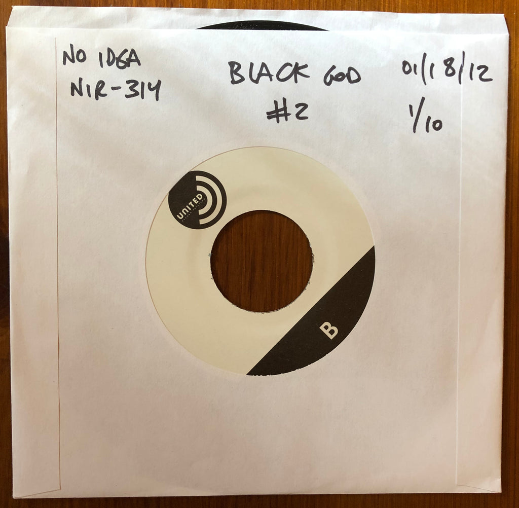 "BLACK GOD ""Two"" TEST PRESSING"