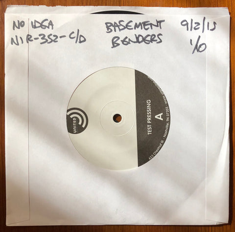 "BASEMENT BENDERS ""Take Our Test"" b/w ""A Long Way From Home"" TEST PRESSING"