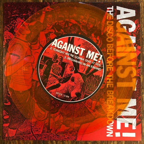 "AGAINST ME! ""The Disco Before The Breakdown"" EARLY PRESSING COLORED VINYL"