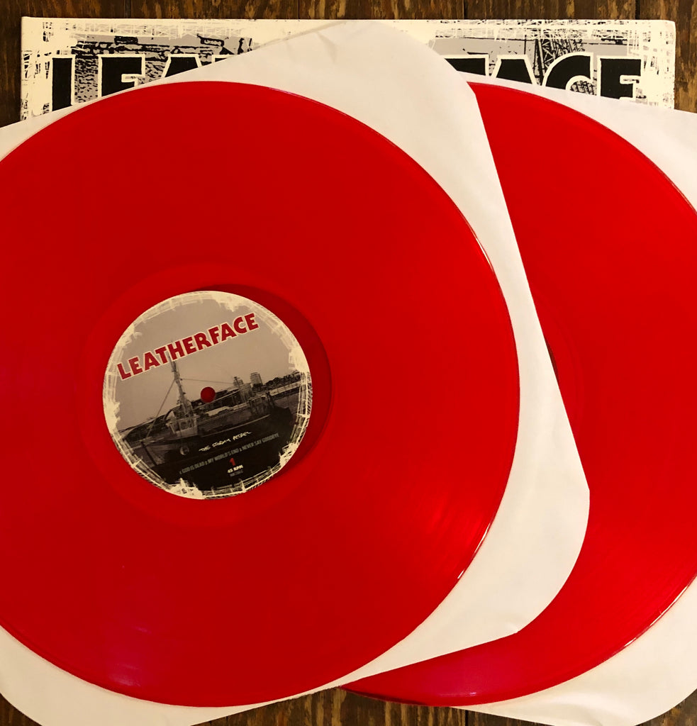"LEATHERFACE ""The Stormy Petrel"" RED VINYL 2xLP"