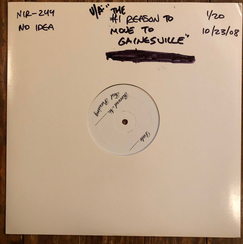 "V/A - ""#1 REASON TO MOVE TO GAINESVILLE"" TEST PRESSING"
