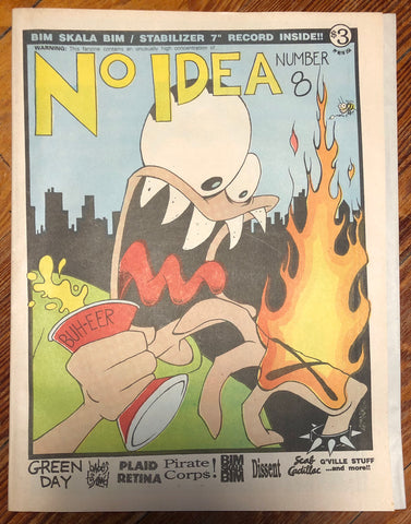 NO IDEA FANZINE #8 with BIM SKALA BIM/STABILIZER record inside (COLORED VINYL)