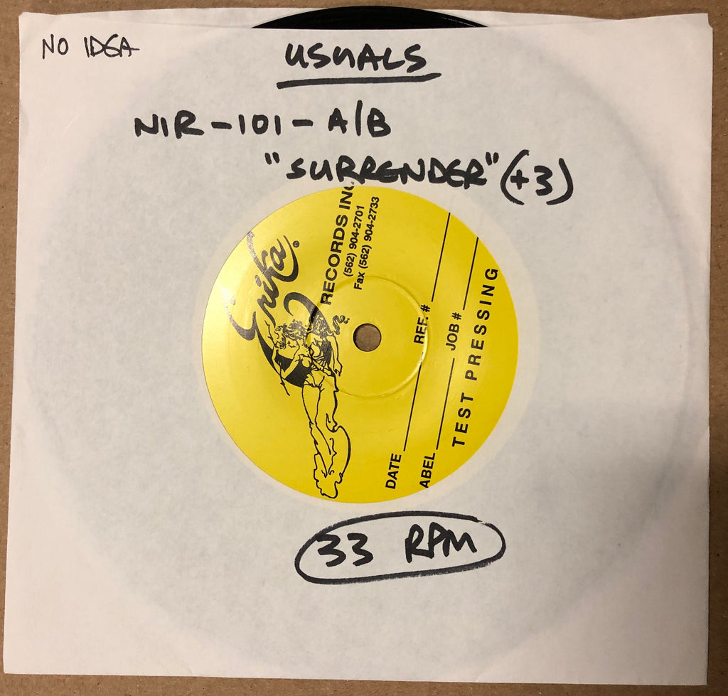 "USUALS ""Surrender"" TEST PRESSING"