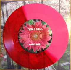 CHEAP GIRLS / LEMURIA RARE PINK/RED SPLIT COLORED VINYL