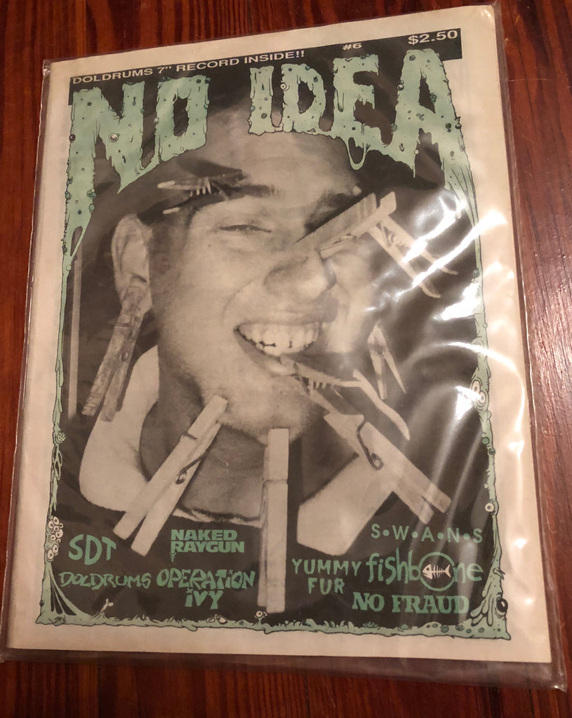 NO IDEA FANZINE #6 with DOLDRUMS record inside (COLORED VINYL)