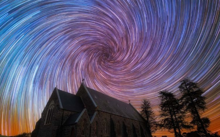 Southern Star Trails On Flat Earth Explained