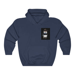 IPS Penguin with Blue  Wrench Unisex Heavy Blend™ Hooded Sweatshirt