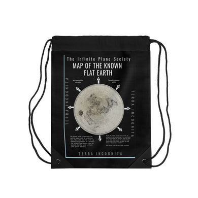 IPS Infinite Plane Society, FLAT EARTH MAP Drawstring Bag #flatearth