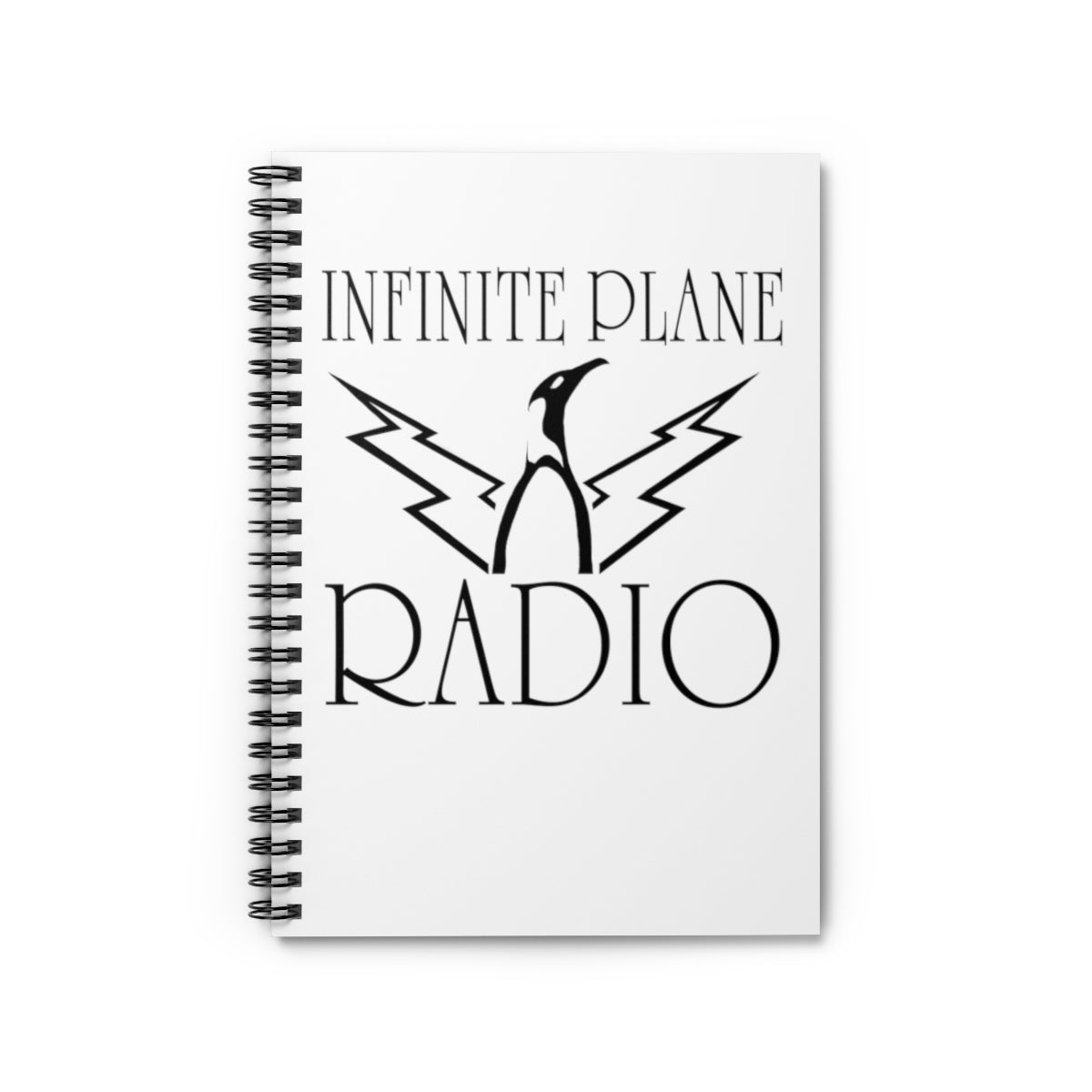 Infinite Plane Radio/ Spiral Notebook - Ruled Line