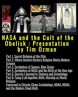 TICKET TO  NASA and the Cult of the Obelisk: Presentation by Tim Ozman: JAN 12, 2020, 12pm-6pm EDT