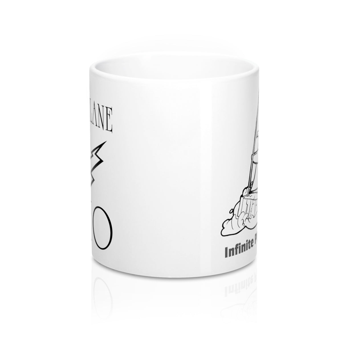 Infinite Plane Radio, Penguin on Ice Boat/ Mug 11oz
