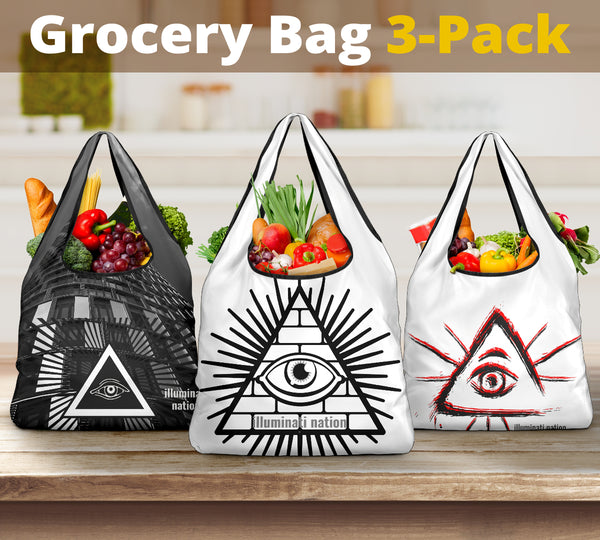 Shopping Bags 3-pack, by Illuminati-Nation