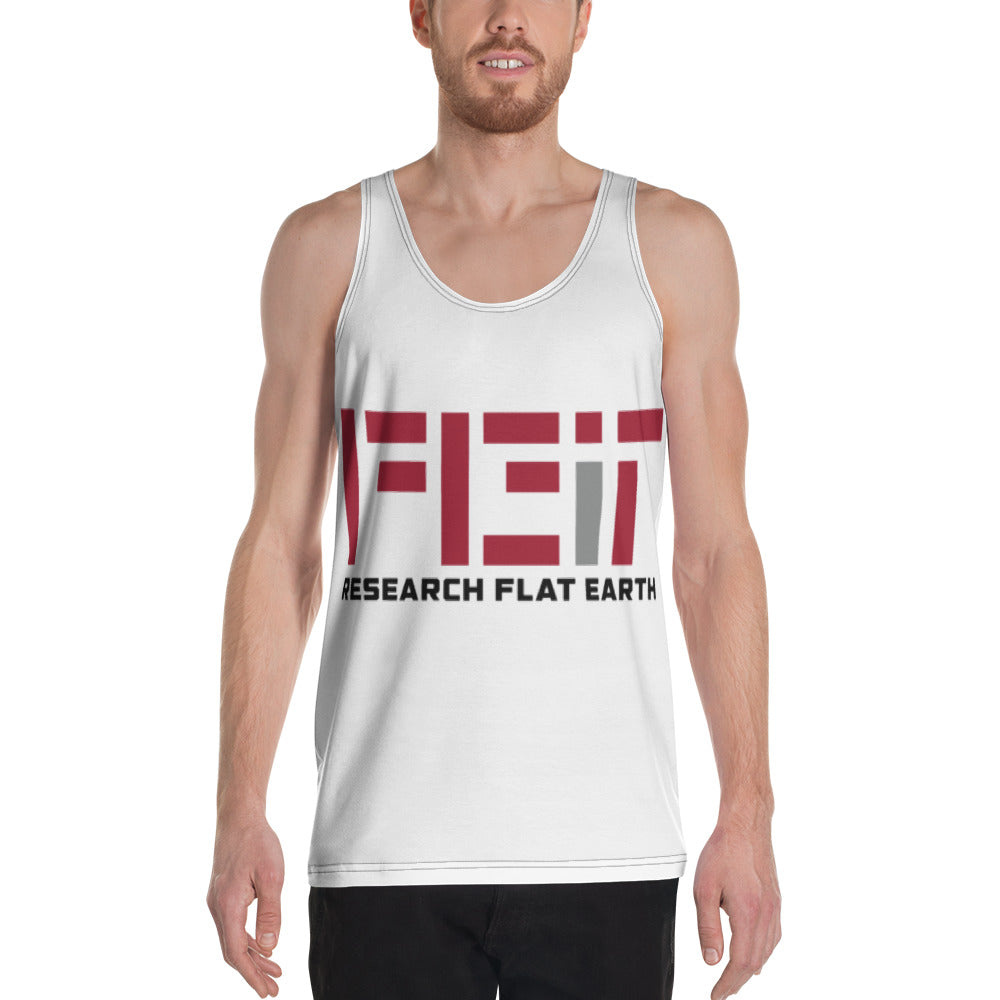 #RESEARCHFLATEARTH Unisex Tank Top