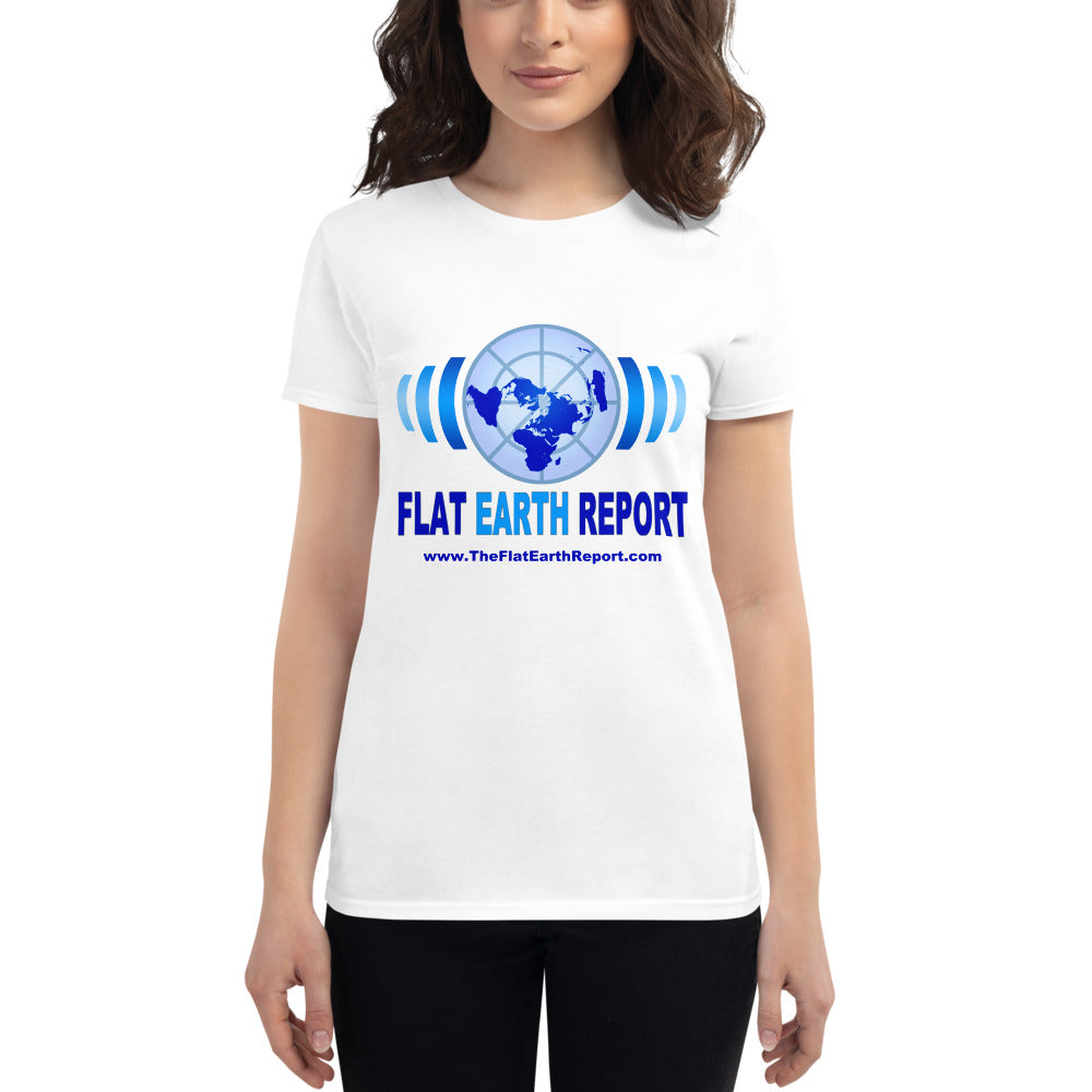 Flat Earth Report/ Women's short sleeve t-shirt
