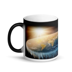 Coffee Finds Its Own Level,    #flatearth #coffee Matte Black Magic Mug