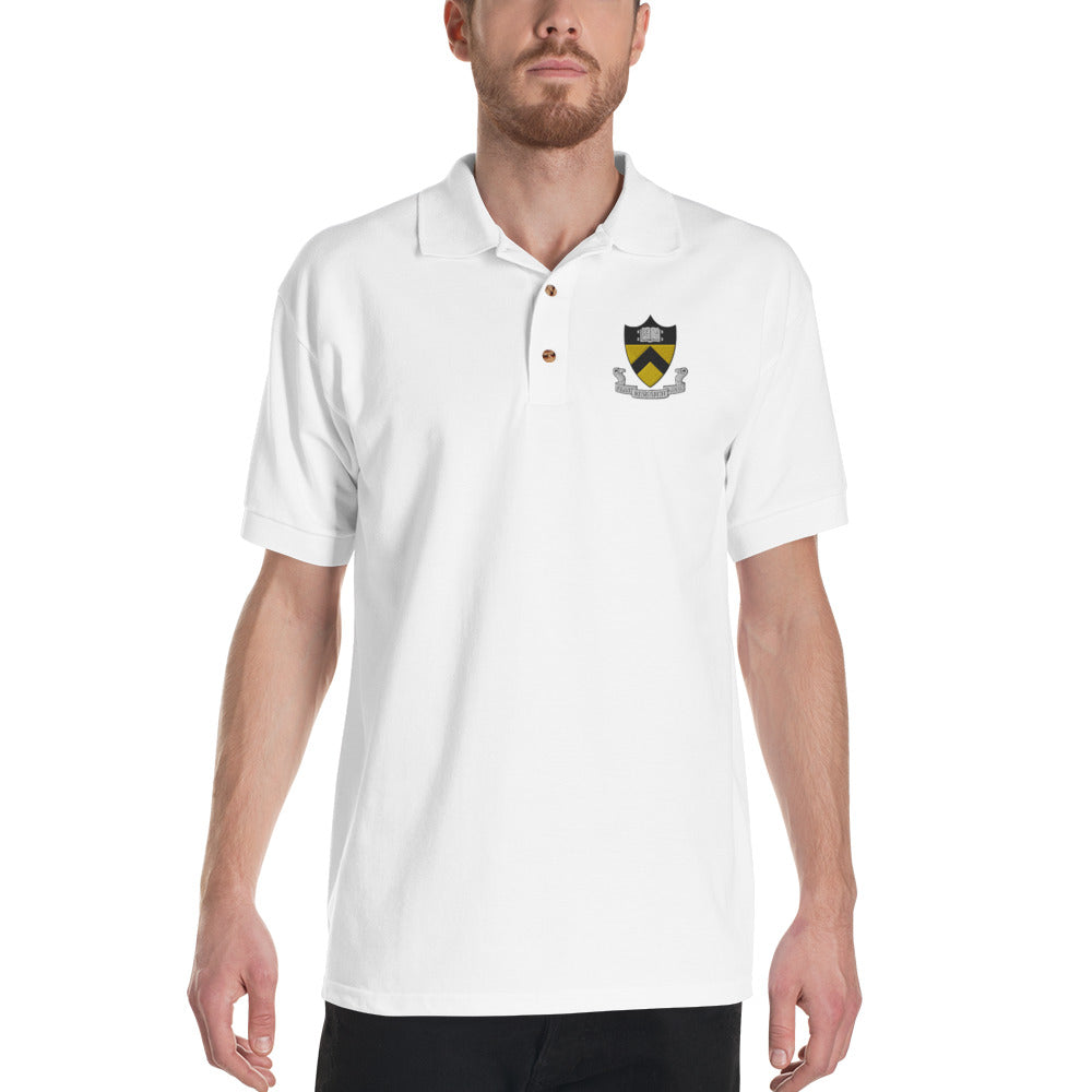 RESEARCH FLAT EARTH, Princeton Embroidered Polo Shirt