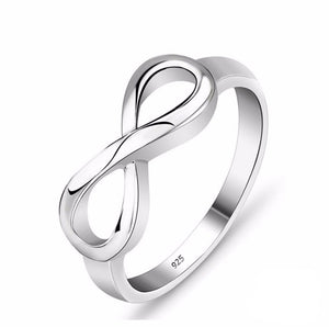 925 Sterling Silver Infinity Ring Eternity Ring Charms Best Friend Gift Endless Love Symbol Fashion Rings For Women jewelry