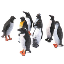 Load image into Gallery viewer, Plastic Penguins, 8pcs Black + White