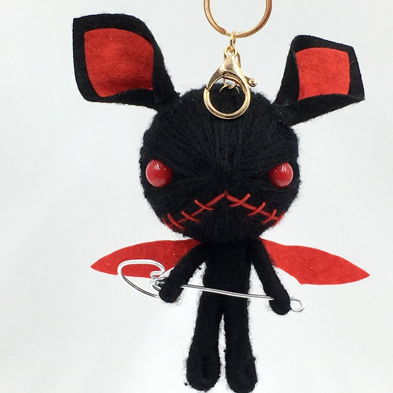 Hand-made Woven Key Chain, Voodoo Doll Demons Monster