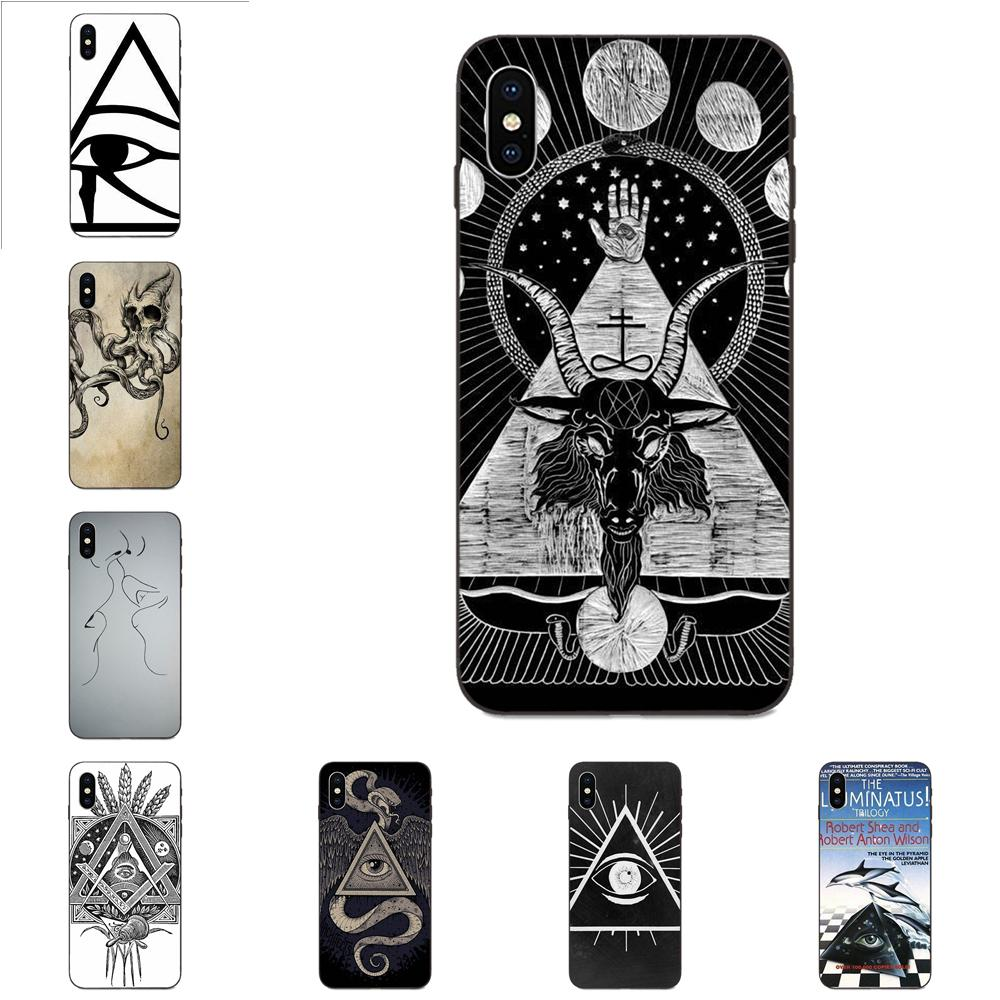 Illuminati Symbol Eye Pyramid For Apple iPhone 4 4S 5 5S SE 6 6S 7 8 Plus X XS Max XR Lovely Plastic