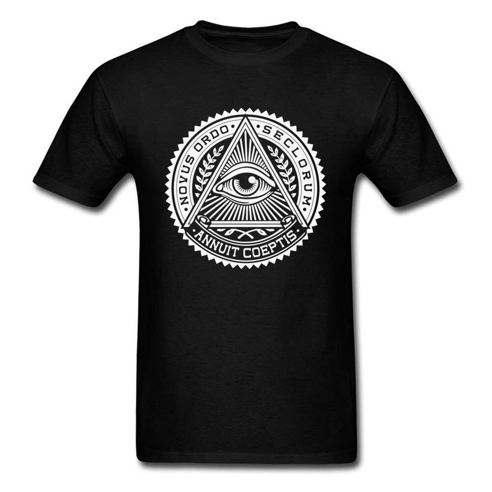 Illuminati Eye of Providence T-shirt Annuit Coeptis 3D Printed T Shirt For Men High Quality Clothes Sweater Cotton Father's Day