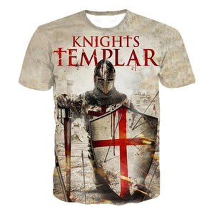 Knights Templar  Casual T-Shirts Men Women Hip Hop Harajuku Streetwear T Shirt Tee Tops