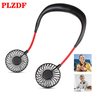 Mini USB Portable Fan Neck Fan Neckband With Rechargeable Battery Small Desk Fans handheld Air Cooler Conditioner for Room
