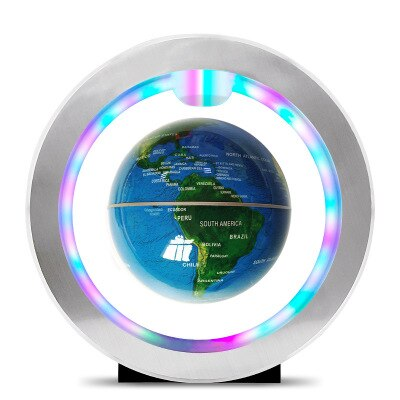 Seven color lamp Magnetic Levitation Floating Globe  World Map Anti-gravity earth Globe LED Light Home Decoration  Birthday Gift