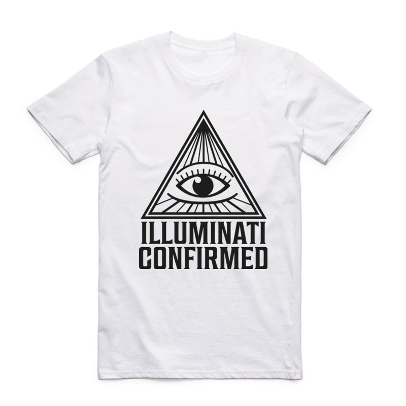 #ILLUMINATICONFIRMED Don't Trust Anyone Illuminati All Seeing Eyes T-shirt Short Sleeve O-Neck Summer Cool Top Tee T Shirt