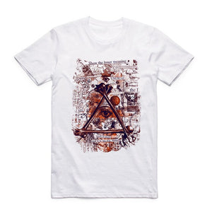 #ILLUMINATI CONFIRMED Don't Trust Anyone Illuminati All Seeing Eyes T-shirt Short Sleeve O-Neck Summer Cool Top Tee T Shirt